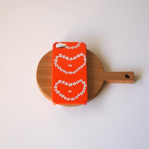 humming heart ( red ) スマホケース - S / M サイズ 【受注生産】