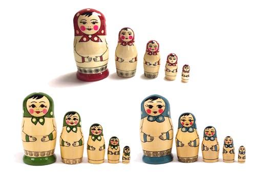 Matryoshka Polka-dot 5 pieces