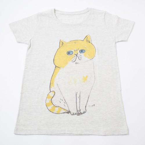 Tシャツ 黄ねこ