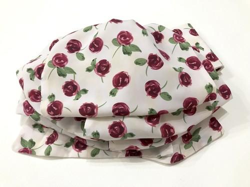 赤い薔薇模様のふわふわ帯【作り帯】
