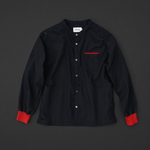 マルチポケットシャツ 2nd 黒×赤+P