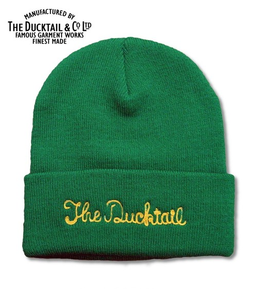 """DUCKTAIL CLOTHING """"NO NAME"""" GREEN ダックテイルクロージング ニットキャップ"""