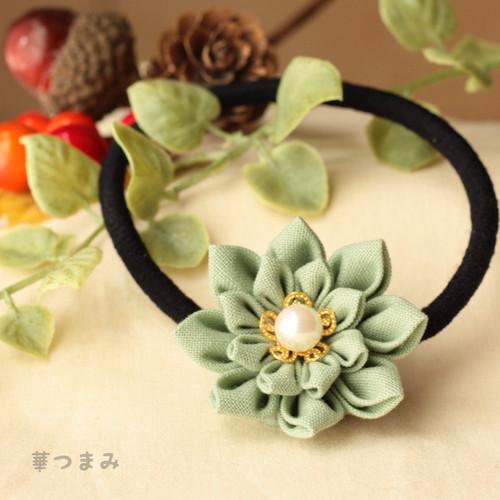 一輪のお花ヘアゴム