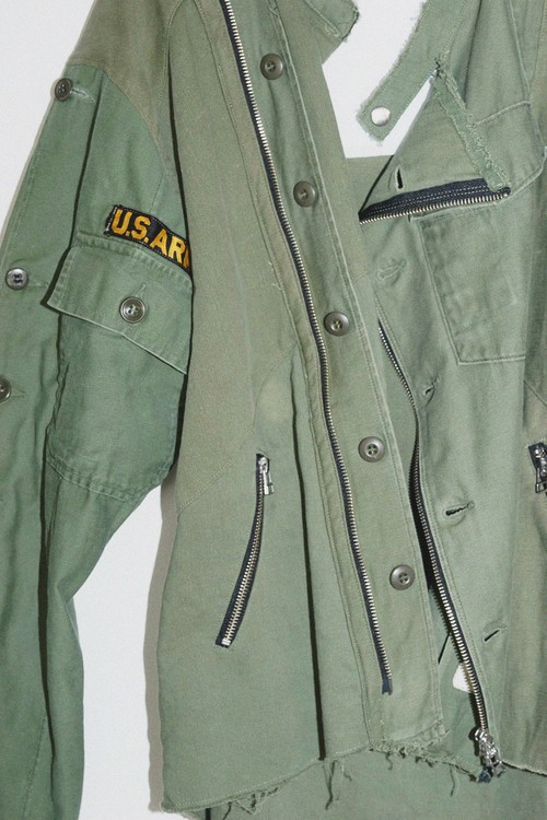 old park - oversized riders shirts military