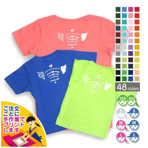 テンシとアクマの肩甲骨Tシャツ【選べる48色*12サイズ】