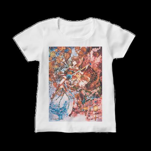 オリジナルレディースTシャツ【夢現つ】 / yuki*Mami