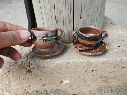 ミニチュアスープカップ&ソーサー(※カップとソーサーはくっついておりません)