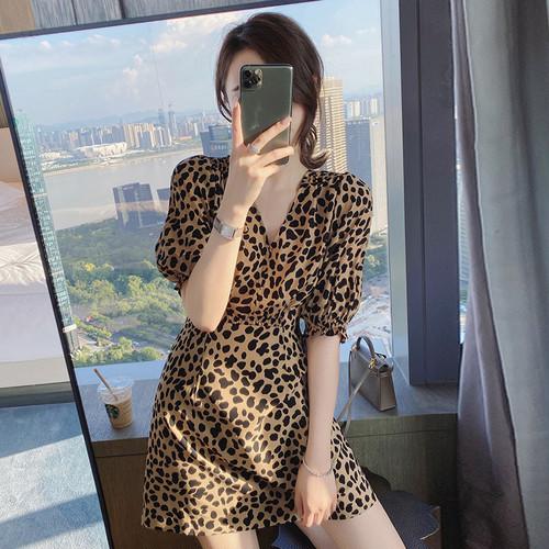 【dress】着回し力抜群Vネックファッション人気デザインデートワンピース2色