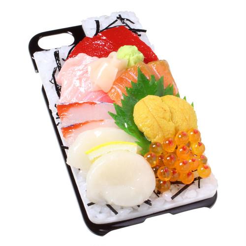 [8000]食品サンプル屋さんのスマホケース(iPhoneSE (第2世代):海鮮丼)【メール便不可】