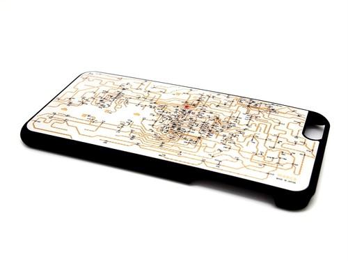 関西回路線図 iPhone6/6s  Plus ケース 白【LEDは光りません】【回路線図ステッカー4種セットプレゼント】
