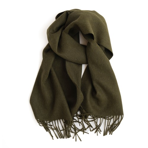 THE INOUE BROTHERS/Brushed Scarf/Khaki