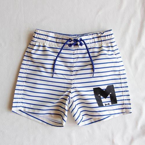 《mini rodini 2016SS》STRIPE AOP SWIMSHORTS / blue