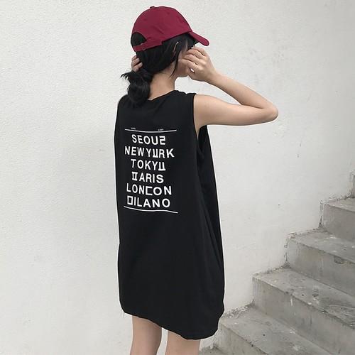 【トップス】スポーツ系合わせやすいアルファベットプリントロングTシャツ21009080