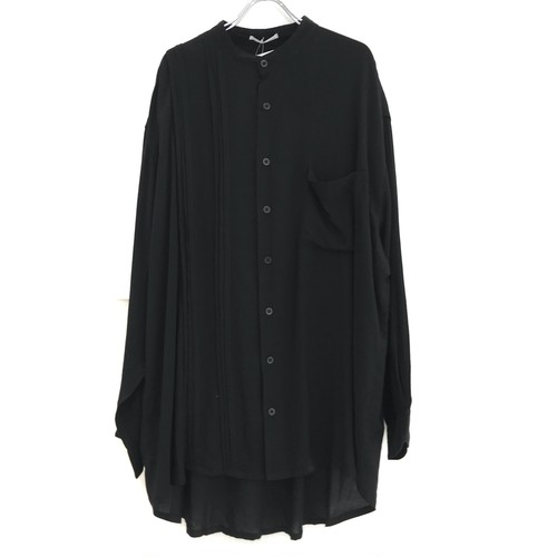 keisukeyoneda half pleats flap shirt