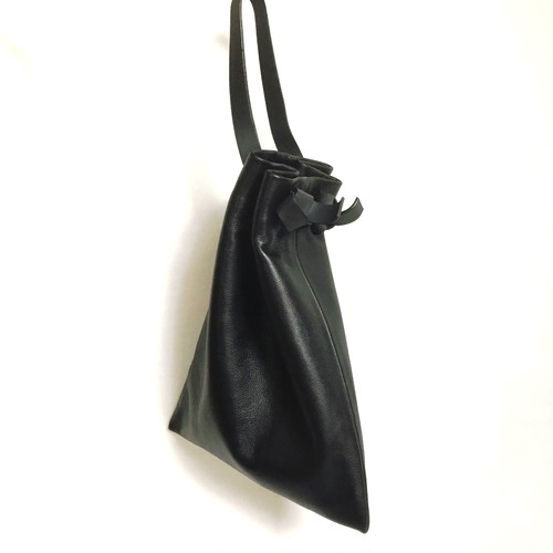 【SALE】Flat Drawstring Bag《black》
