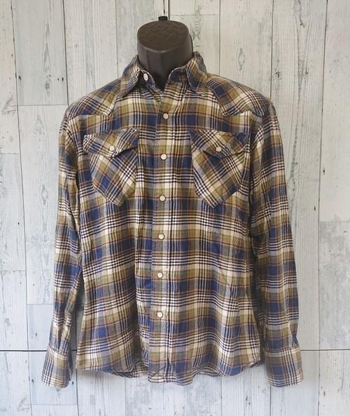 BACK NUMBER フランネル ウェスタン チェックシャツS RankC