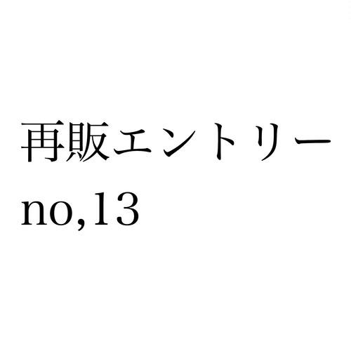 再販エントリー no,13