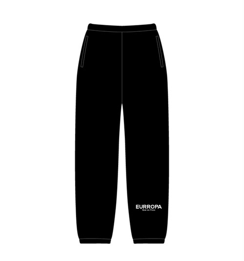 EURROPA LOGO SWEAT PANTS(Black)