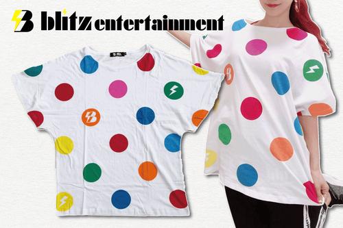 blitzドルマンTシャツ(ドット柄)