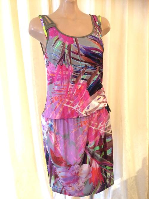 Parah<パラ> フラワーボタニカル柄 サマーロングドレス 42サイズ
