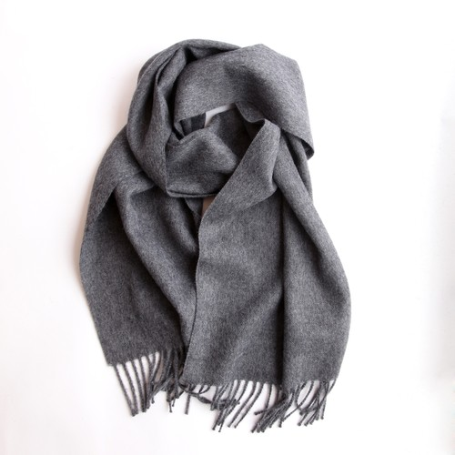 THE INOUE BROTHERS/Brushed Scarf/Grey