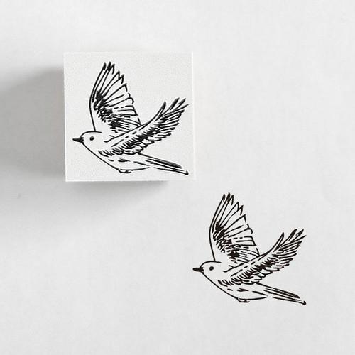 ラバースタンプ 鳥 RS08