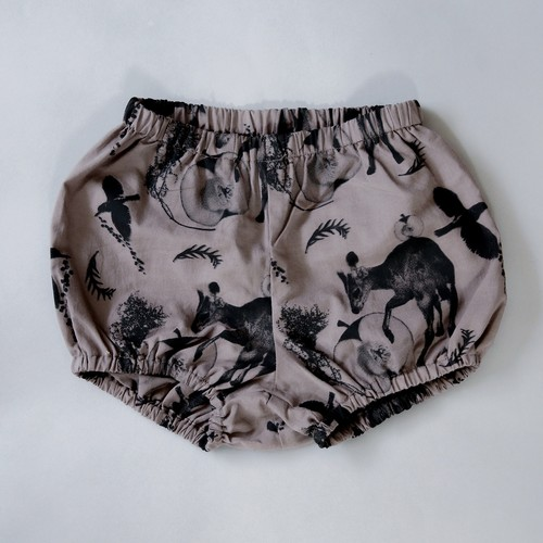 《michirico 2021SS》Flora and fauna bloomers / charcoal