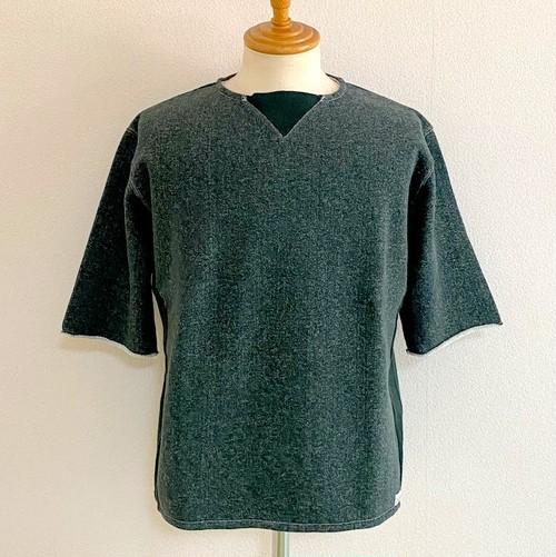 Gazette cut off Big Sweat(Half Sleeve) Tsurimoku Green