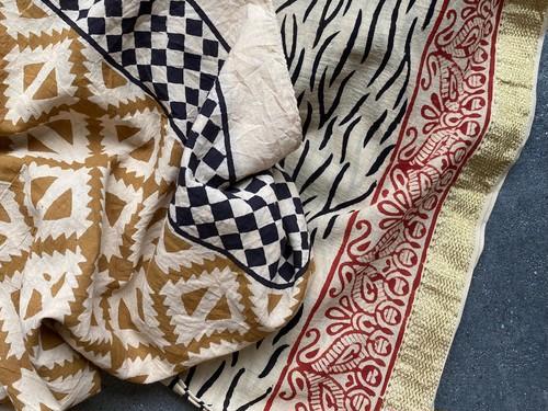 block print scarf
