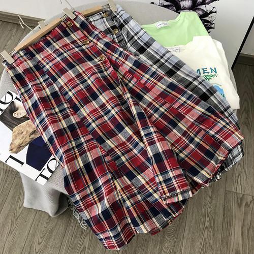 【❤ボトムス】ハイウエストチェック柄シンプルスカート24383134