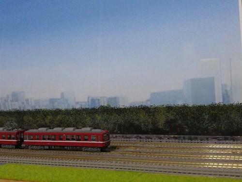ジオラマ用背景画 都会の風景A