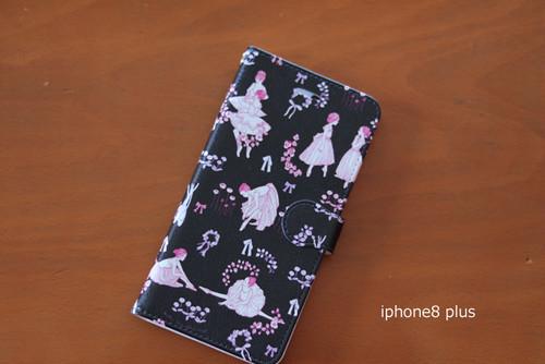 オリジナルバレエ柄 iphoneケース : iphone7 plus、iphone8 plus