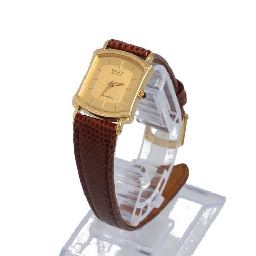 セイコー エクセリーヌ 8420-6140 14K クォーツ レディース腕時計