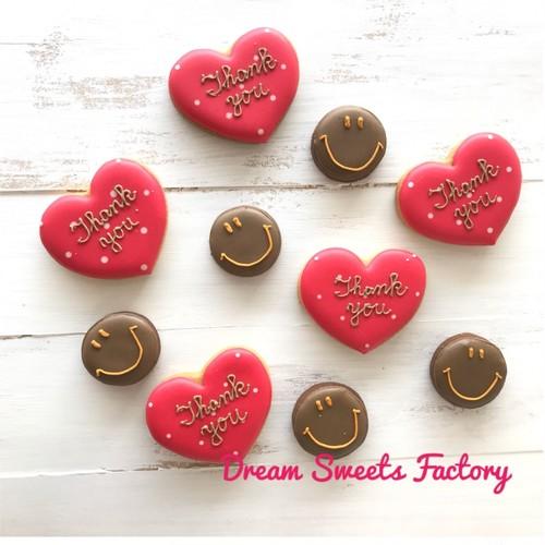 [リニューアルしました]【当店人気NO.2】☆プチギフトに☆【アイシングクッキー】ハート+にこちゃんアイシングクッキー5袋セット