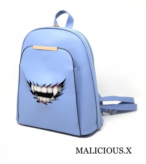 vampire backpack / light blue