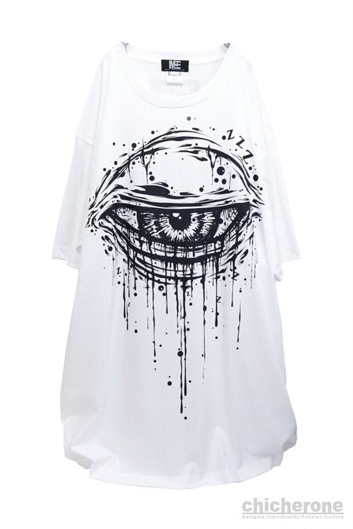"【M:E】""sleepy""BIG-Tshirt[WHITE]"