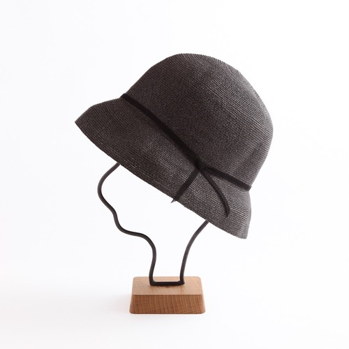 mature ha./paper braid light hat short/black×black