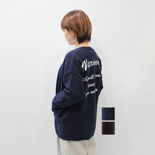 marmors(マルモア) back embroidery cardigan カーディガン 2021秋冬新作 [送料無料]