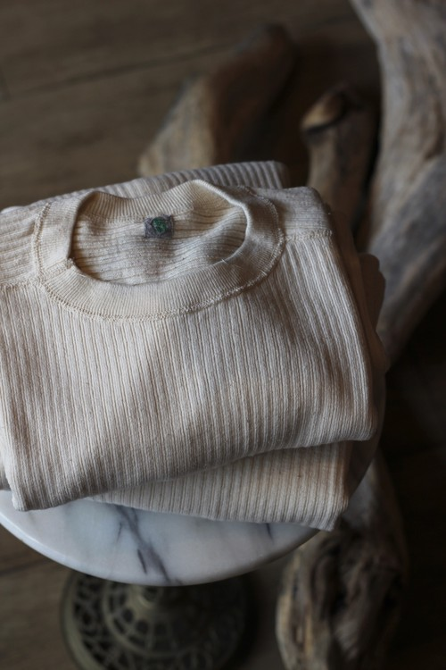 【dead stock】Swedish military ribbed thermal