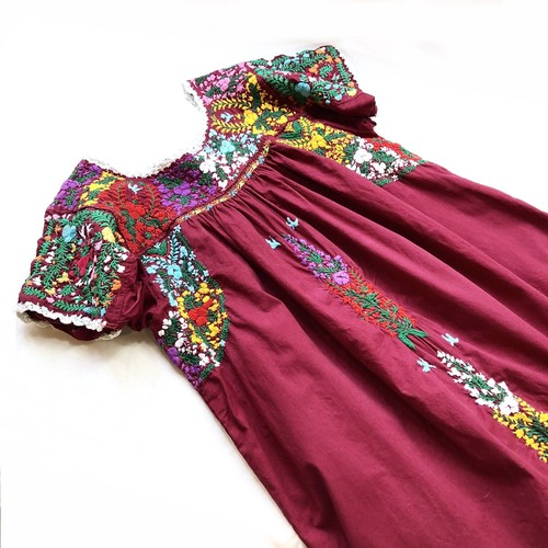 Mexican San Antonino Embroidered Blouse / メキシコサンアントニーノ刺繍トップスチュニック