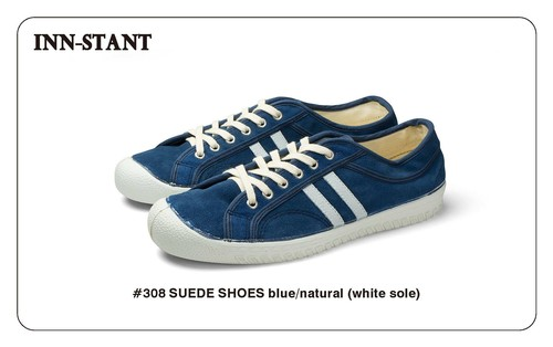 #308 SUEDE SHOES blue/natural (white sole)  INN-STANT インスタント 【消費税込・送料無料】