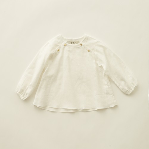 《eLfinFolk 2020AW》C/L washer  baby blouse / white / 80-100cm