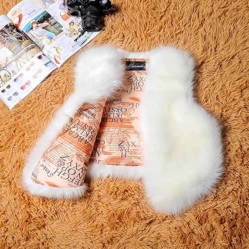 ファー 模造 ウサギ キツネ 毛皮 コート ショート ベスト