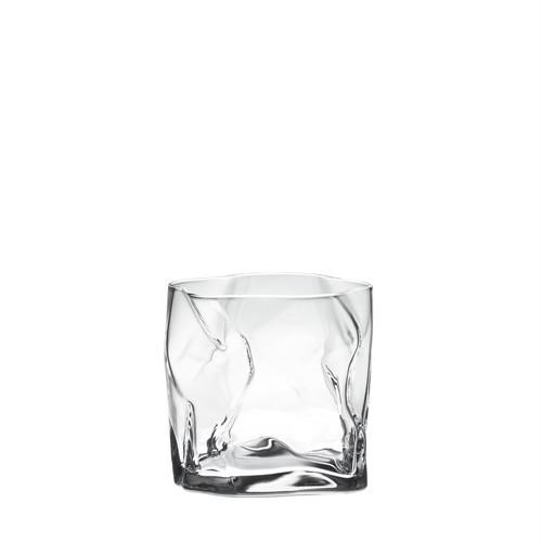 紙をクシュっとしたような個性的なグラス COM(木村硝子×小松誠)クランプル オールド