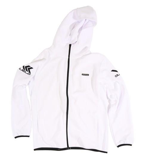 20010 Hood zip sweat top WHT