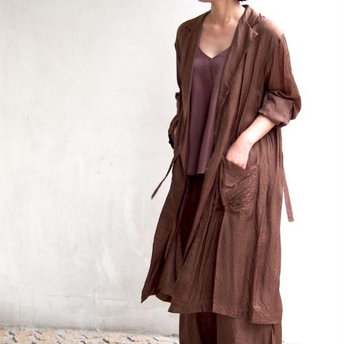 【hippiness】cupro coat (Jacquard5brown)/【ヒッピネス】キュプラ コート(ジャガード5brown)