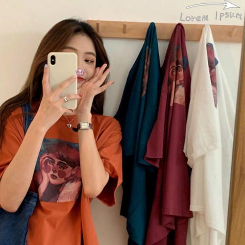 ファッション  綺麗系服  シンプルコーデ  ラウンドネック  半袖  Tシャツ・トップス
