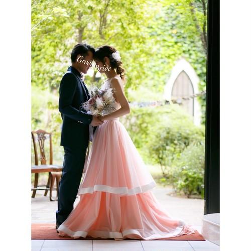 Confetti\ Bride♡ソフトマーメイドドレス+ピンクのオーバースカート