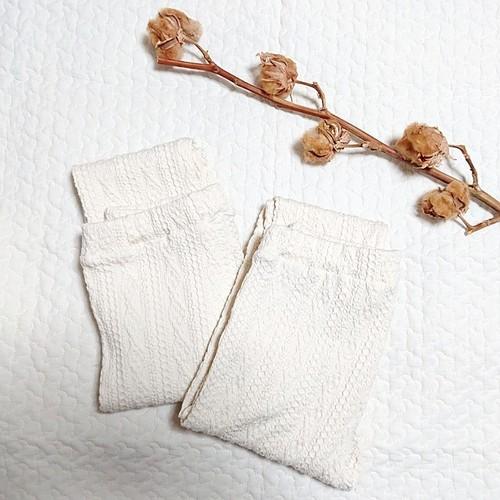 アラン縄編みジャガードニット・スパッツ / 生成り110サイズ