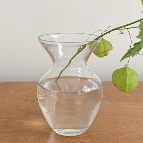 vintage antique st. glass vase / ヴィンテージ アンティーク調 ガラス ベース つぼ形 花瓶 韓国 雑貨